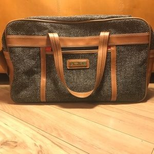 Vintage Oscar de la Renta carry-on/weekender bag